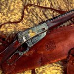 Winchester Model 1895 sporting rifle, presented to Zane Grey by the Winchester Repeating Arms Company, February 28, 1924. cal. 30-06. Donated in Loving Memory of Robert Jesse Moore by his family. 1991.1.1