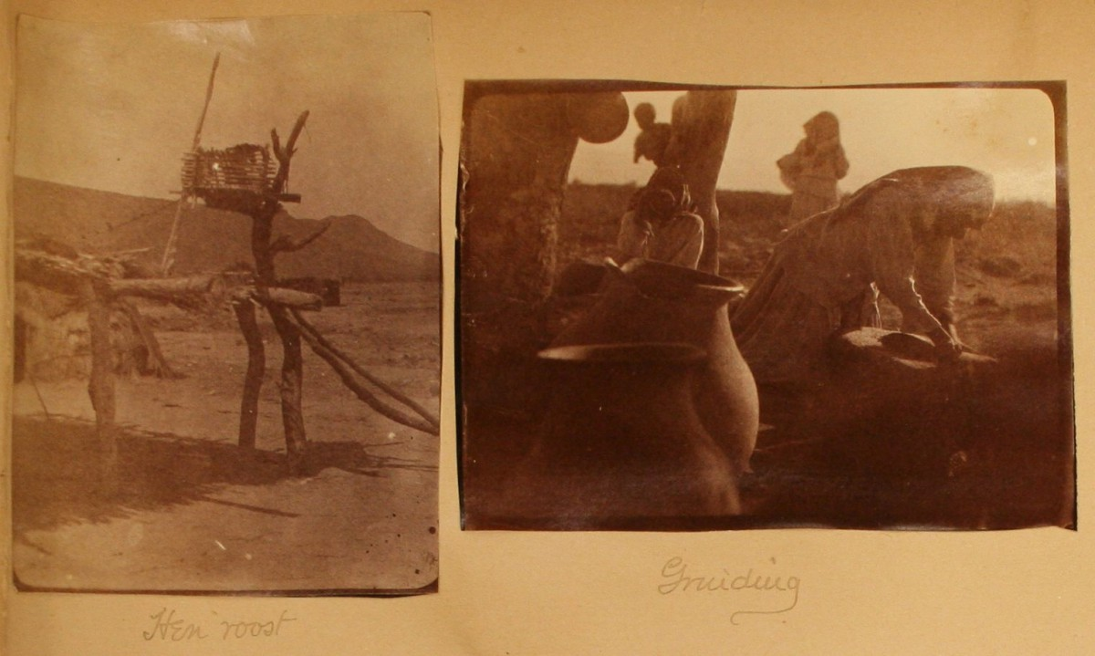 Figure 5. Photographs of the Papago Indians taken by Remington on his 1886 Southwest trip. (FRAM 71.832)