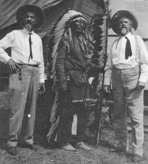 Curt Alexander with the real Buffalo Bill and Iron Tail