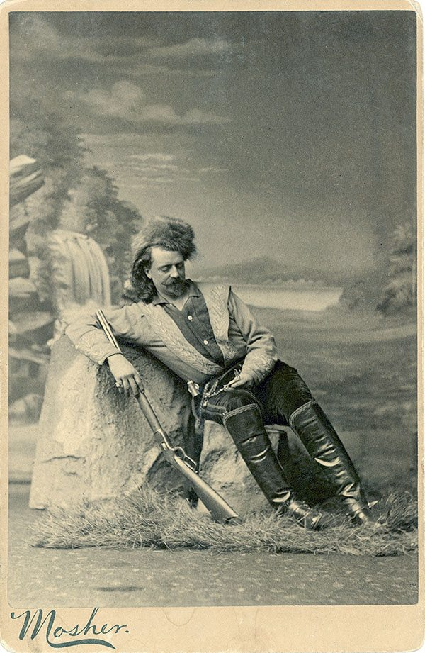 Buffalo Bill in scouting dress, ca. 1878. Mosher Studios, Chicago. Mary Jester Allen Collection. Cabinet photograph. MS 6 William F. Cody Collection. P.69.1541