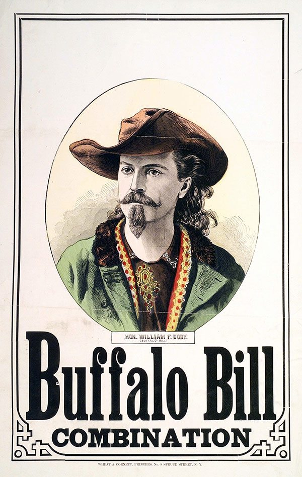 Buffalo Bill Combination. Wheat & Cornett, Printers, New York, NY. Hand-tinted lithograph. 1.69.5251