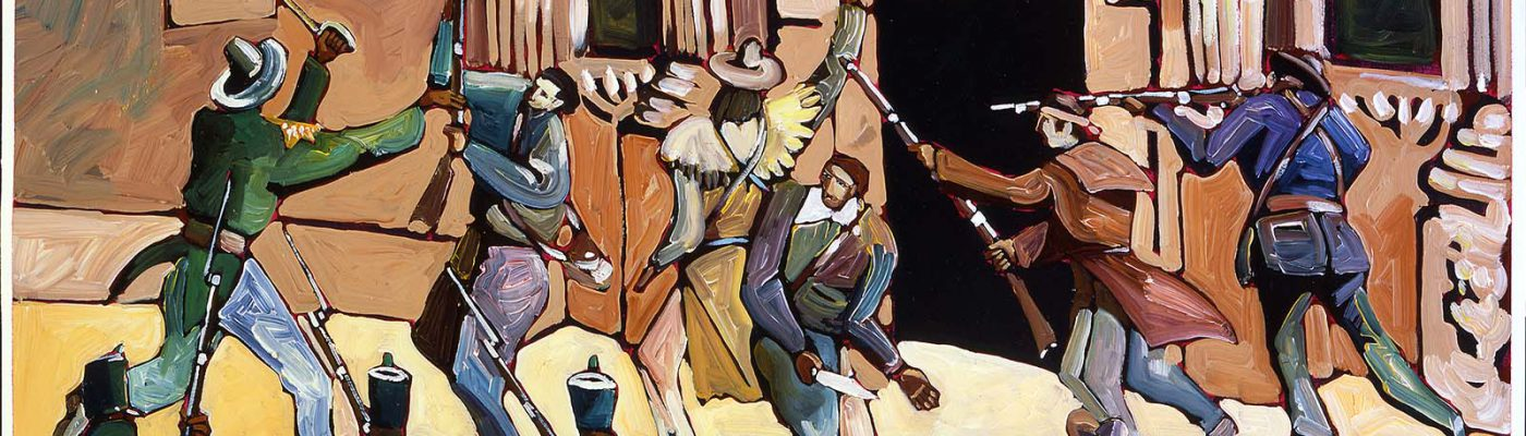 """Thom Ross. """"The Alamo,"""" 2000. Acrylic on canvas. Mary Jester Allen Purchase Fund. 15.00"""