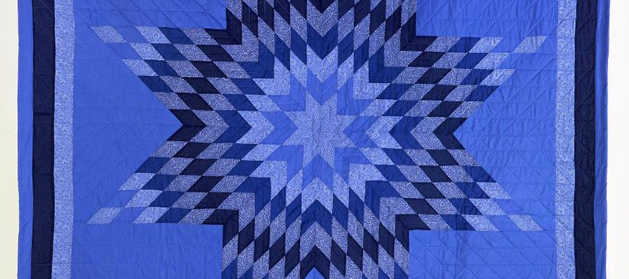 Star Quilt. Freda Goodsell, Oglala Lakota, Northern Plains, 2000. Cotton cloth and thread, polyester batting. Museum purchase with fund provided by the Pilot Foundation. NA.302.144.