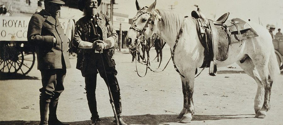A Treasure from Our West: Photograph, Prince Albert I and Buffalo Bill. P.69.1577
