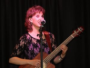 Dan Miller's Cowboy Music Revue's Wendy Corr, bass and vocals