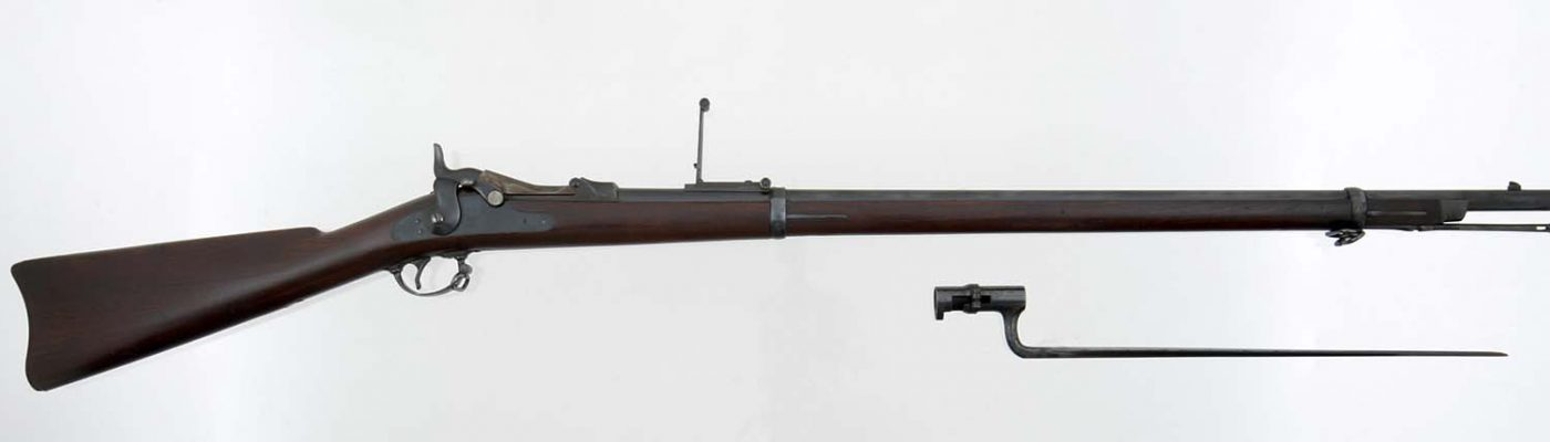M1873 trapdoor Springfield rifle, Gift of Olin Corporation, Winchester Arms Collection, 1988.8.754