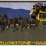 Serigraph poster, Yellowstone National Park Transportation Company coach. Ludwig Hohlwein, Munich, H. Schuh and Cie, printers, ca. 1910. Gift of Clyde S. Erskine and Helen E. Erskine. 1.69.1836