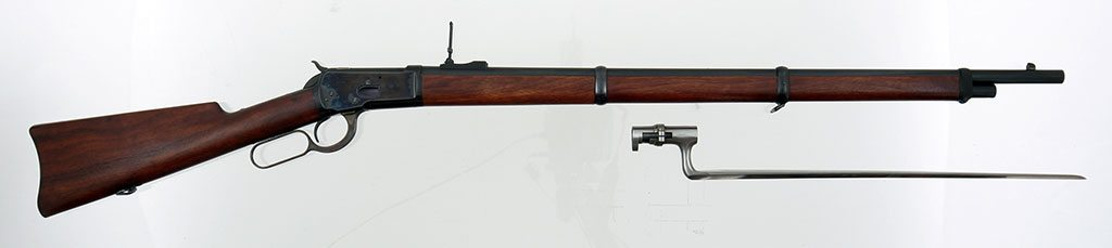 A Winchester Model 1892, on view in the Cody Firearms Museum. 1988.8.259