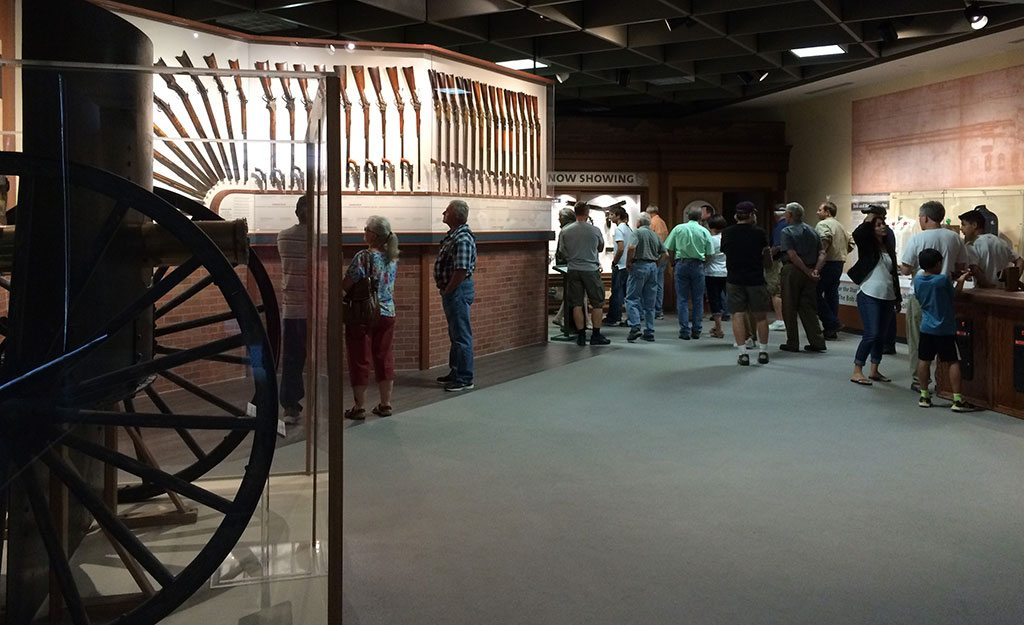 The entrance to the Cody Firearms Museum at the Buffalo Bill Center of the West.