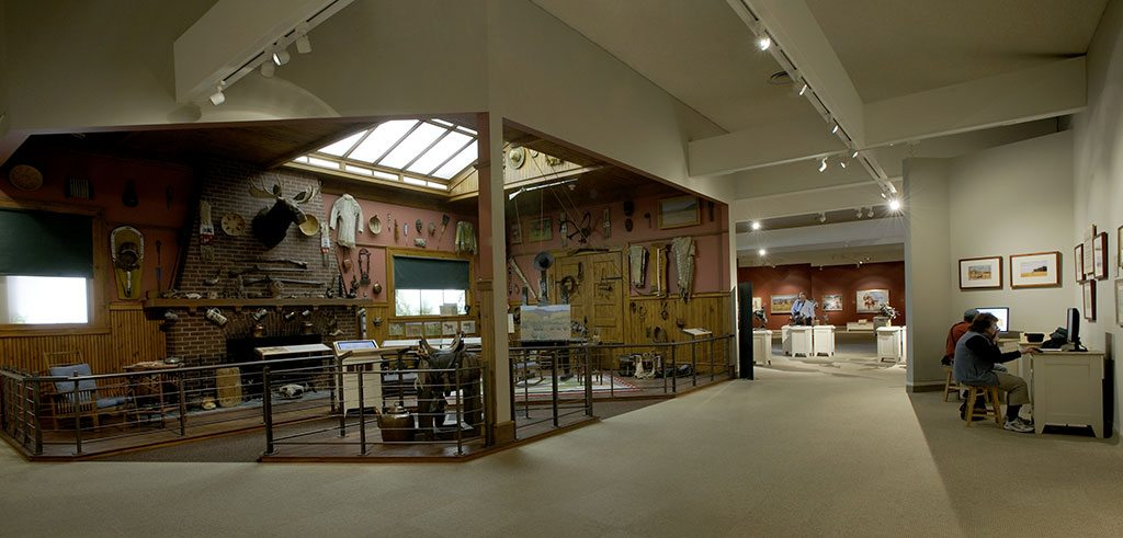 Frederic Remington studio reproduction in the Whitney Western Art Museum.