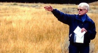 Mary Meagher, shown here in the field, speaks about Yellowstone bison at our June 2 lecture.