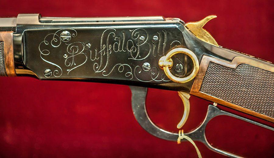"""""""Buffalo Bill"""" detail, Winchester Commemorative Model 94"""