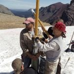 Taking core samples from frozen ground. Photo courtesy Dr. Craig Lee, one of this year's Camp Monaco Prize-winners.