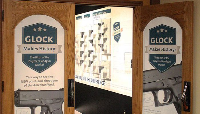 """""""GLOCK Makes History"""" exhibit in the Coors Theater"""