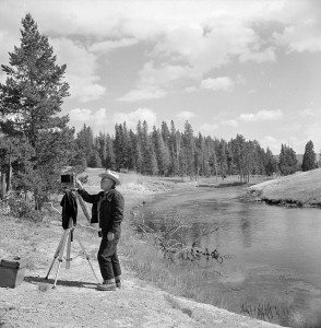 Jack Richard along the Firehole River in Yellowstone National Park, ca. 1970. PN.89.116.21447.1