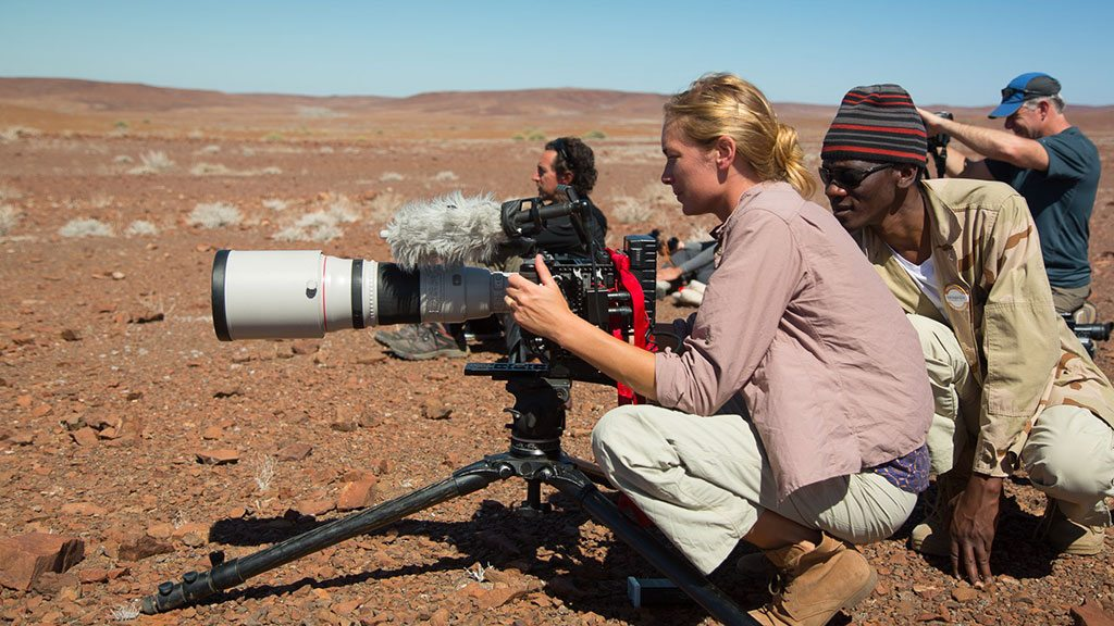 Filmmaker Jenny Nichols in Namibia in 2014. Nichols is the speaker at the June 1 Buffalo Gals Luncheon at the Buffalo Bill Center of the West. Photo courtesy Pong Media.