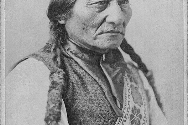 Sitting Bull, ca. 1887. Black and white cartes-de-visite. MS 6 William F. Cody Collection. Gift of Mr. and Mrs. George Strobel. P.6.38