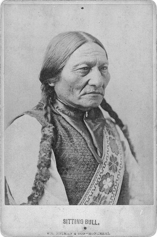 treasures from our west colorized postcard of sitting bull