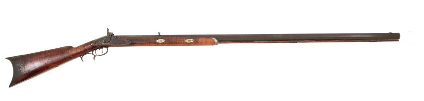 John Phillip Gemmer .38 caliber Hawken Rifle, 1864-1880