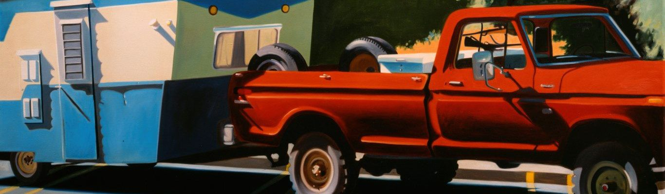 """Robert Seabeck. """"Fall Scene,"""" 1979. Oil on canvas, 30 x 72 inches. Gift of anonymous donor. 6.79."""