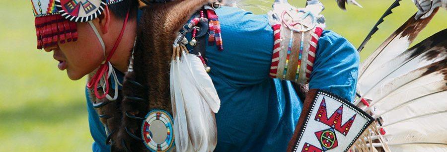 Powwow dancer D'andre Augustine, 2015. Photo by Ken Blackbird.