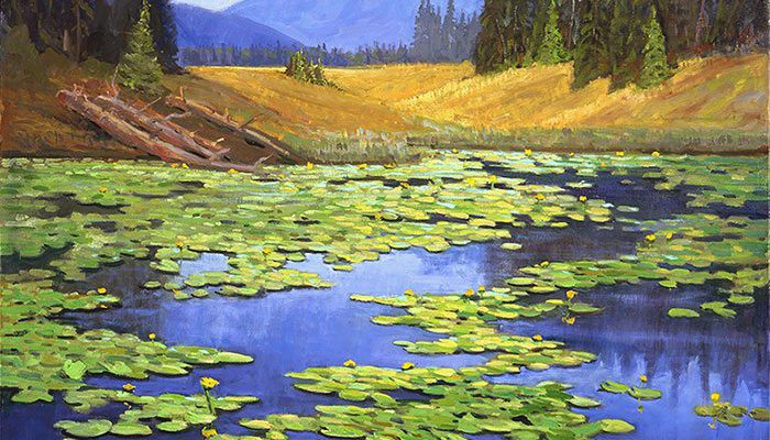"""Fillerup's """"Yellowstone Lilies."""" 6.05"""