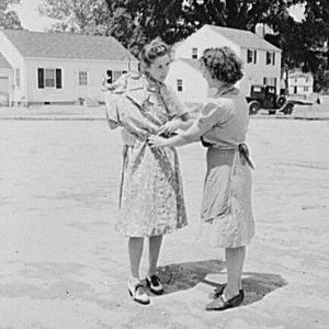 Neighbors-talking dresses