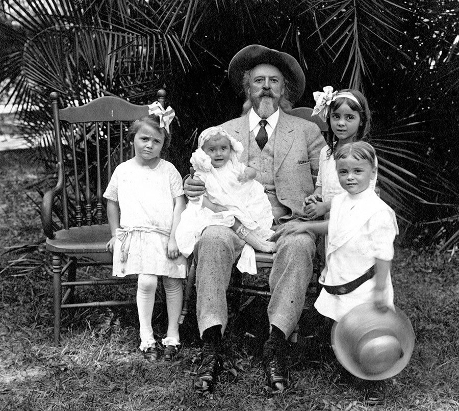 Buffalo Bill with F.M. Williams children. MS 6 William F. Cody Collection, McCracken Research Library. P.6.316