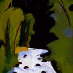 "Fritz Scholder (b. 1937). ""Aspen Summer,"" 1977. Oil on canvas, 40.25 x 30.125 in. Gift of Jack and Carol O'Grady. 25.91.2"