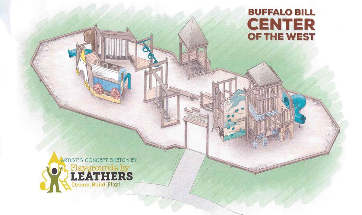 Sketch of American West-themed playground at Center of the West