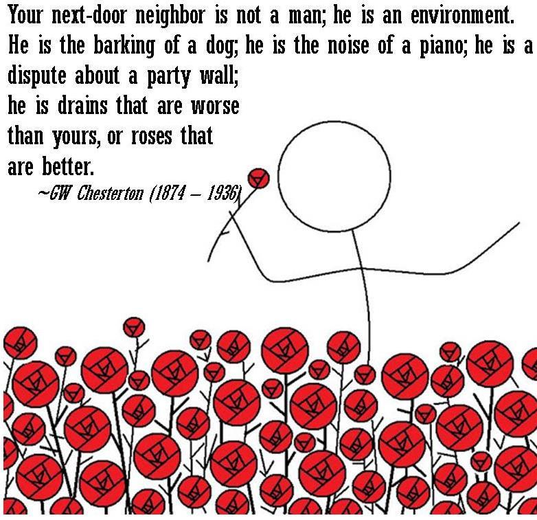 G.K. Chesterton on neighbors