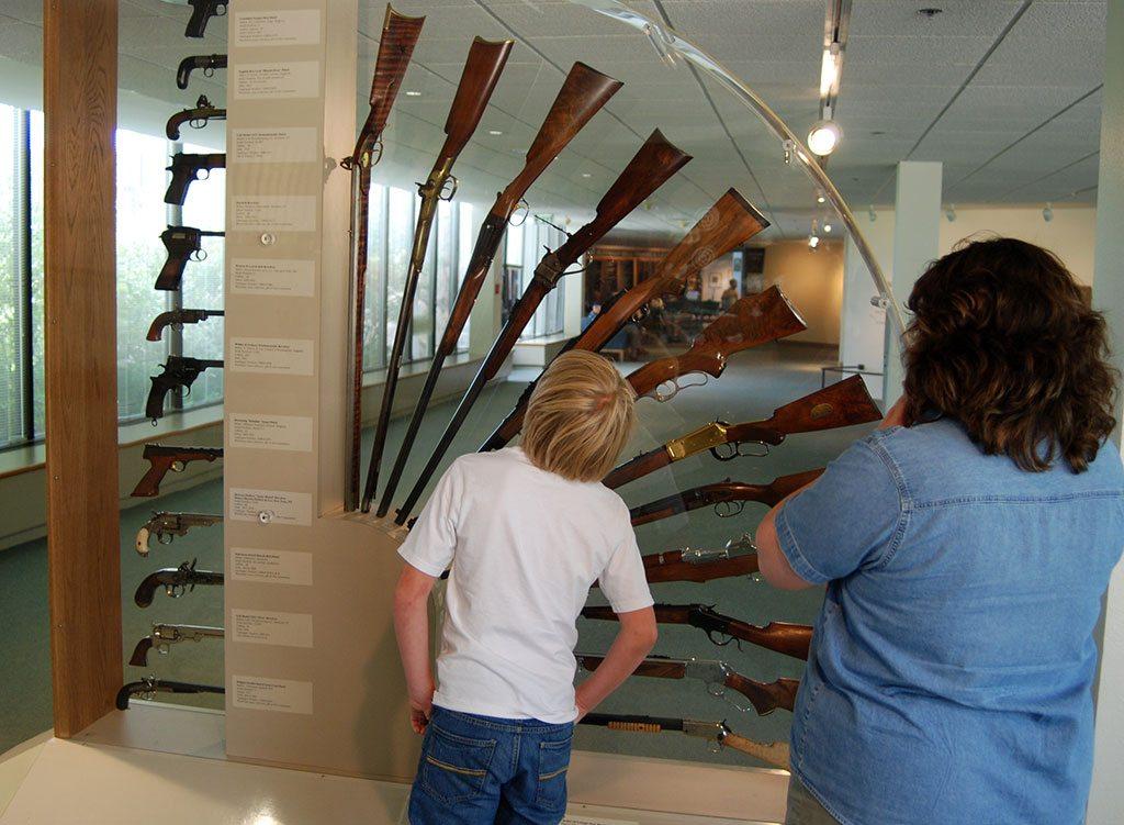 Visitors at CFM gun fan
