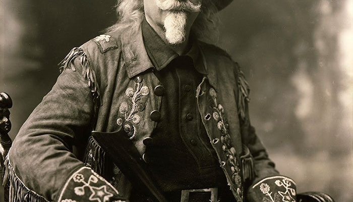Buffalo Bill in Wild West show jacket, ca. 1909. MS6 William F. Cody Collection. P.6.55