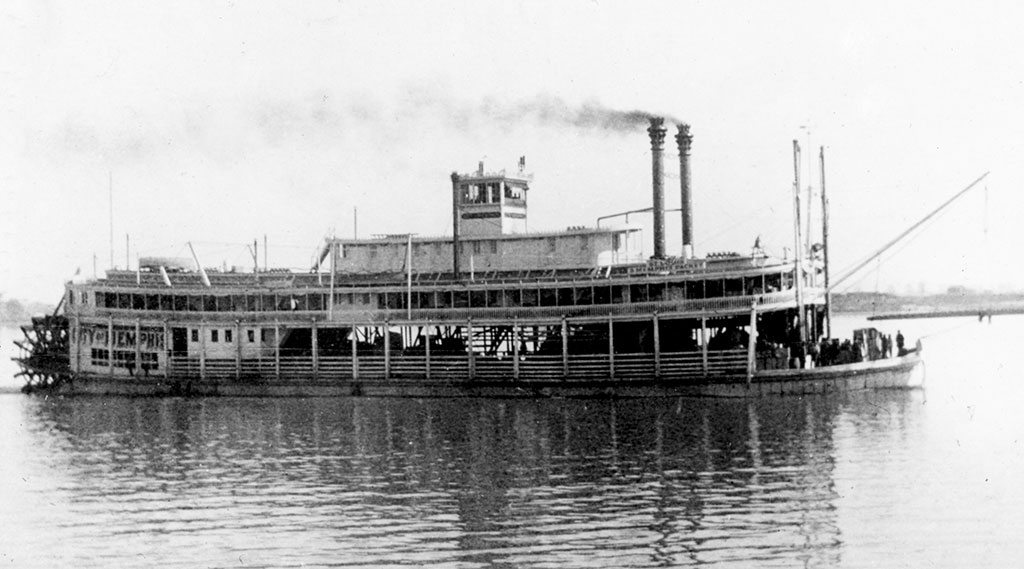 """The """"City of Memphis"""" was the Mississippi river boat that Mark Twain piloted from 1859 to 1861. Mark Twain House and Museum, Hartford, Connecticut. River boats #33."""