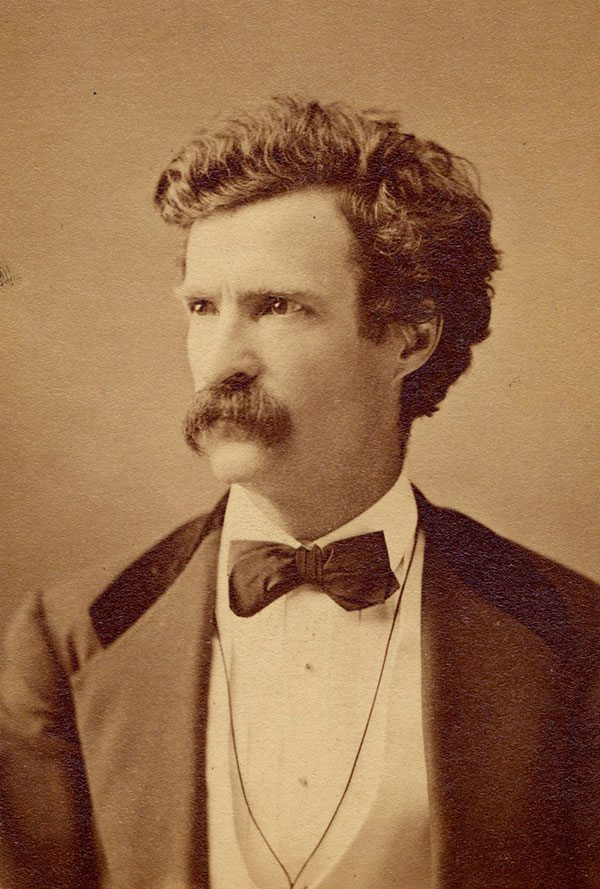 "Samuel Clemens, also known as ""Mark Twain,"" date unknown. Mark Twain Archive, Elmira College, New York."
