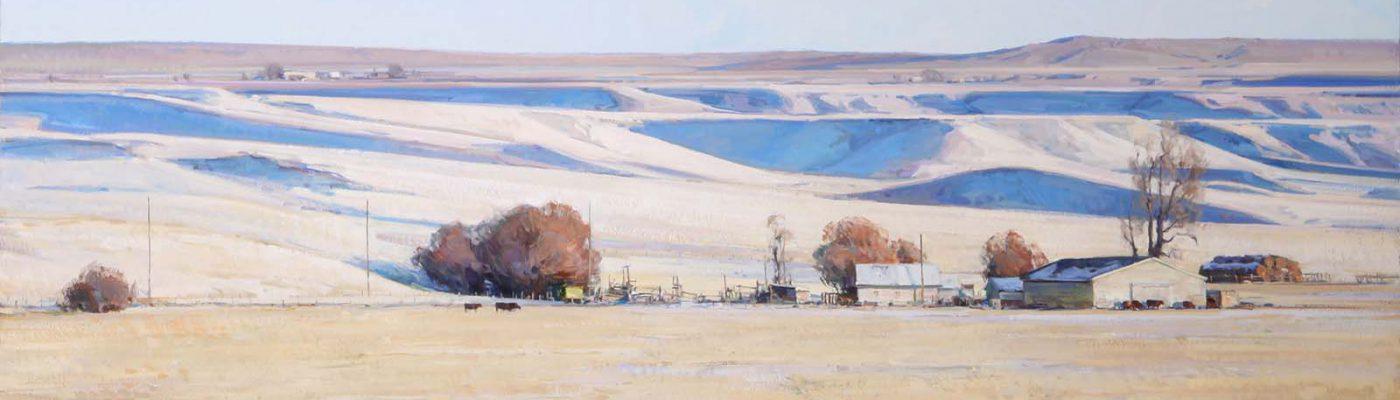"Josh Elliott. ""Morning Blue,"" 2014. Oil on linen. Museum purchase from William E. Weiss Memorial Fund. 1.18 (detail)"
