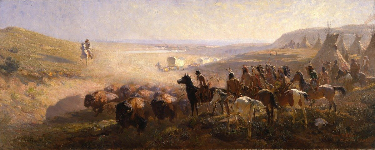 """Irving R. Bacon (1875 - 1962). """"The Conquest of the Prairie,"""" 1908. Bequest in memory of the Houx and Newell families. 14.64"""