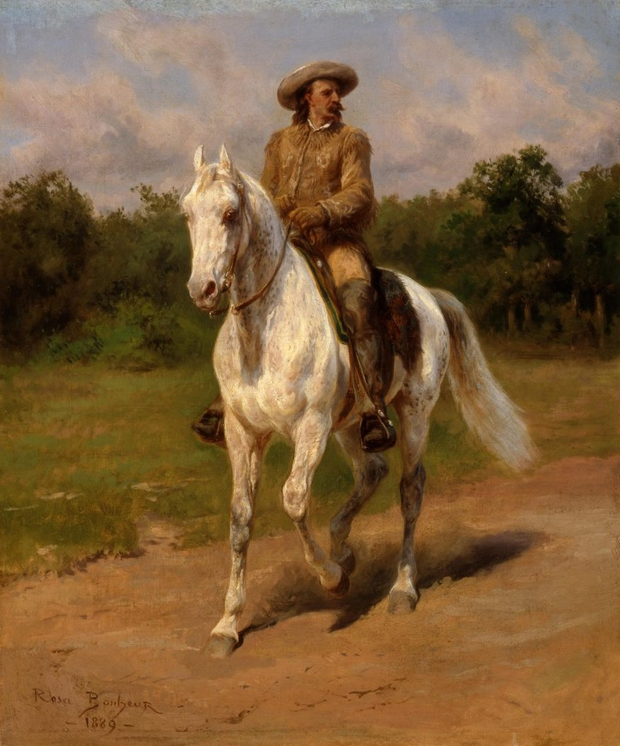 Rosa Bonheur (1822-1899). Col. William F. Cody, 1889. Oil on canvas. Given in memory of William R. Coe and Mai Rogers Coe. 8.66