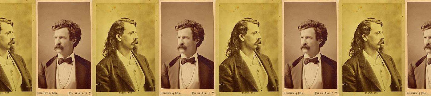 Buffalo Bill and Mark Twain. (BB - P.69.544)