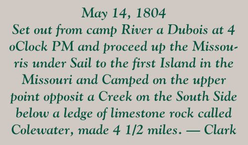 Points West blog 155: pull-out quote, May 14, 1804