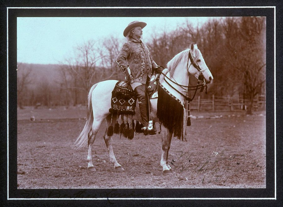 Buffalo Bill in his Wild West show dress, ca. 1907. MS 6 William F. Cody Collection. P.69.1231.1