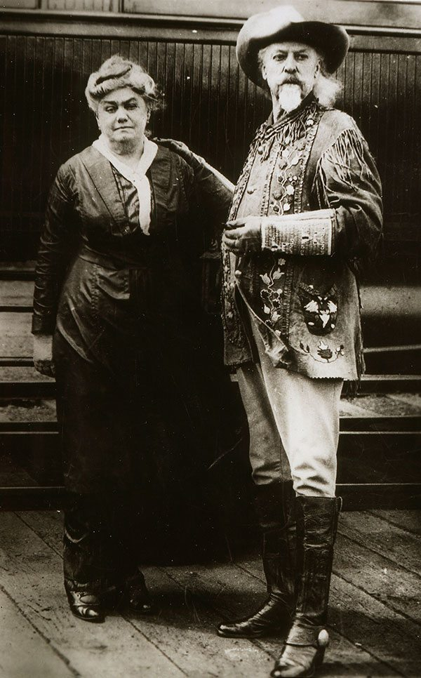 William F. Cody and wife, Louisa, 1914. MS 71 Vincent Mercaldo Collection. P.71.500.1