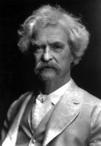 Mark Twain, ca. 1907. Photo courtesy The Mark Twain House & Museum, Hartford, Connecticut.