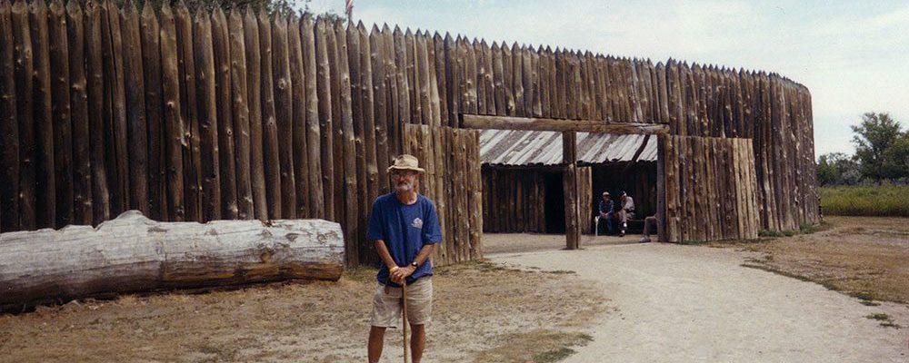 The re-constructed Fort Mandan in North Dakota.