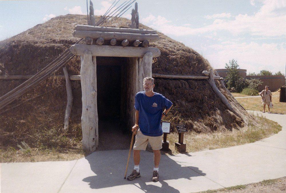 Knife River Indian Village, near Fort Mandan, where Lewis and Clark met Sacajawea.