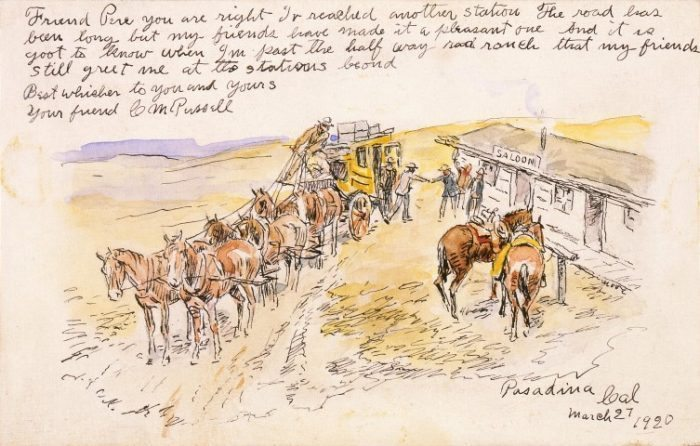 Friend Perc, March 27, 1920. Watercolor and pen and ink on paper, 3.25 x 5.125 inches. Gift of William E. Weiss. 105.60