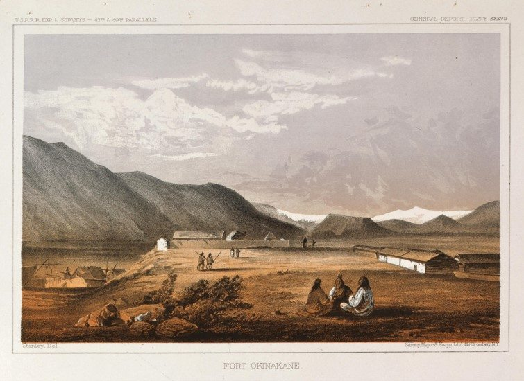 Fort Okinakane, 1860. Tinted lithograph paper. 12.87.2