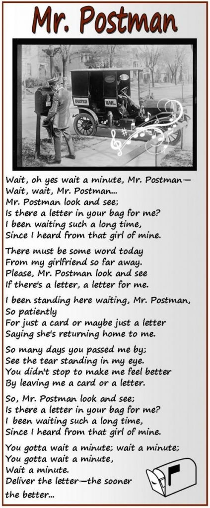 Mr. Postman lyrics