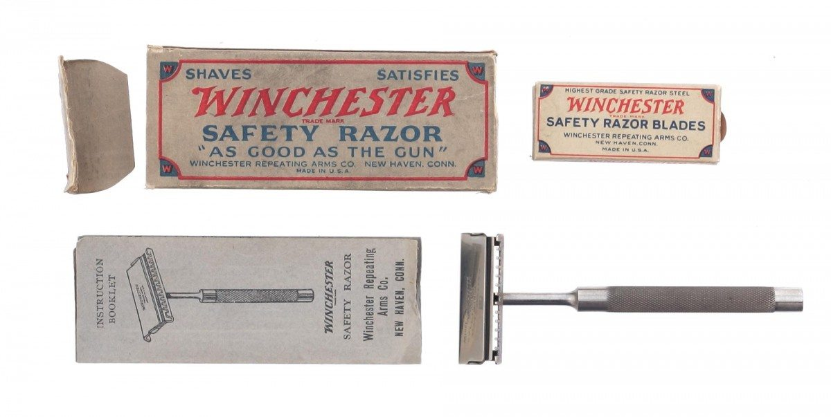 Let's be honest here, if I had the chance to shave with a Winchester razor I'd probably give it a shot. Gift of Olin Corporation, Winchester Arms Collection. 1988.8.844.1-4