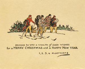 W.H.D. Koerner. Bringing To You a Wealth of Good Wishes. 1928, pen and ink and watercolor on paper.